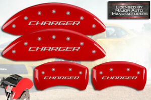 2011 2019 Dodge Charger R T Front Rear Red Mgp Brake Disc Caliper Covers Br5