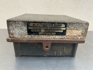 Vintage A ottavino Granite Machinist Steel Surface Plate 84 Pounds