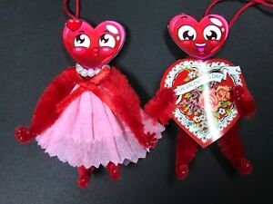 Valentine S Day Ornaments Vintage Feather Tree Ornaments Gift Tag Item 23