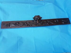 Antique French Black Forest Pediments Solid Oak 19th Architectural