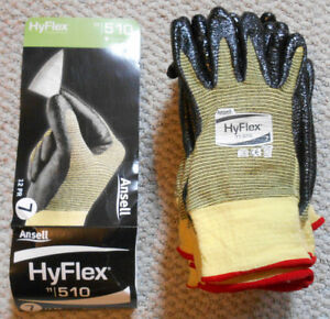 Lot 10 Pairs Ansell Hyflex 11 510 Cut Protection Kevlar Nitrile Coated Gloves 7