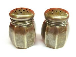 Pair Of Cute Sterling Silver Webster Salt Pepper Shakers Free Shipping