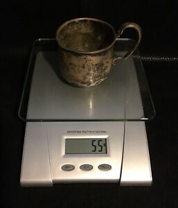 Sterling Silver Antique Vintage Baby Child Cup 55 Grams Inscribed Candy