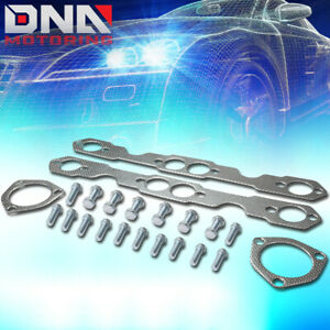 For 1955 1957 Chevy Sbc 265 283 Tri 5 Engine Exhaust Manifold Header Gasket Set
