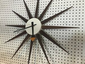 Vintage Mid Century George Nelson For Howard Miller Wall Clock