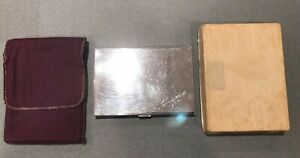 Vintage Sterling Silver Volupte Cigarette Case W Original Box And Case 142g