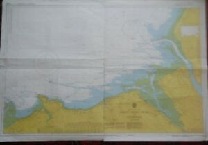 Vintage 1977 Admiralty Marine Chart No1978 Great Ormes Head To Liverpool