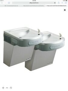 Elkay Bi level Ada Wall Mount Barrier Free Refrigerated Drinking Water Fountain