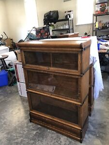 Oak Antique Barrister Sectional Bookcase