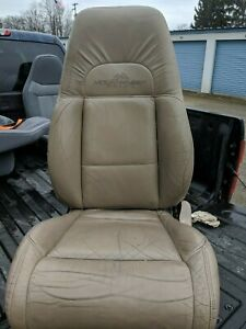 1996 1999 Mountaineer Ford Explorer Tan Leather Front Seat Driver Power