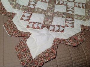 Vtg 88x100 Handmade Patchwork Quilt Floral Trellis By Quilts Such