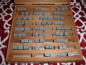 Kingsley Hot Stamping Machine 24 Point Ransom Shaded Initials Type Set