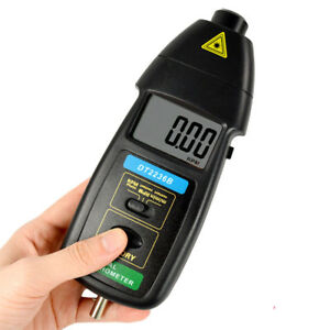 2 In 1 New Digital Lcd Photo Non contact Laser Tachometer Dt2236b