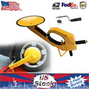 Wheel Lock Clamp Boot Tire Claw Parking Car Truck Suv Boat Trailer Anti Theft Us