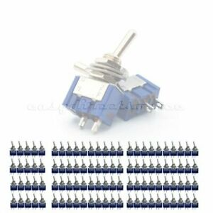 100pcs 2 Pin Spst 2 Position 6a 250vac On off Mts 101 Mini Toggle Switches
