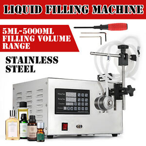 5 5000ml Digital 110v Liquid Filling Machine Filler Oil Automatic Silicone