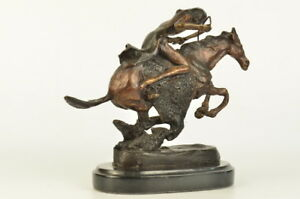 Cheyenne 10 Length Solid Bronze Statue Sculpture By Frederic Remington Medium