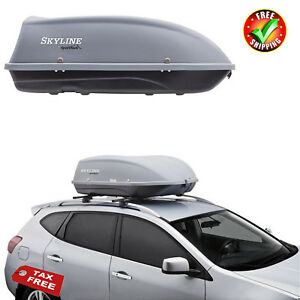 Cargo Box Car Top Carrier Mount Travel Storage Luggage Rack Hard Shell Roof New