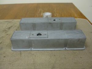 Vintage Mr Gasket Small Block Chevy Finned Aluminum Valve Covers Z2484