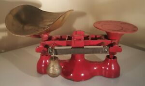 Vintage Red Detecto Scale No 4 Jacobs Bros Inc Ny 1920s