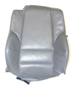 Bmw E46 Convertible Grey Leather Passenger Front Upper Sport Seat Back Heated