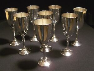 8 Vintage Sterling Silver Mexico Cordials Goblets Juvento Lopez Reyes 4 75 575g
