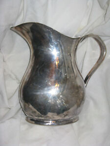 Wwii Reed And Barton Large Silver Solder Water Pitcher Us Navy 3610