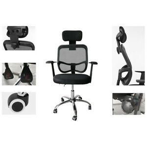Adjustable Ergonomic Swivel Executive Mesh Office Computer Desk Chair Headrest