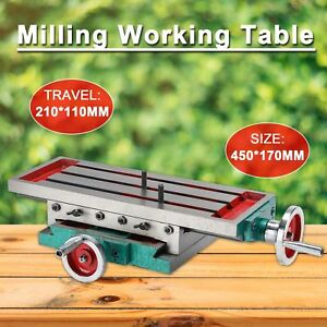Milling Machine Bench Drill Vise X Y axis Adjustment Table Fixture Worktable