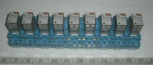Lot Of 9 Finder Power Relay With Base 55 32 8 120 0050 120v 10 A 55 Series