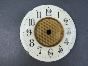 Antique Or Vintage Cream Enamel Clock Dial Chapter Ring Spares Parts