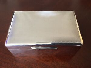 Antique Asprey Co Ltd Sterling Silver Cigarette Cigar Box Marked A Co Ltd