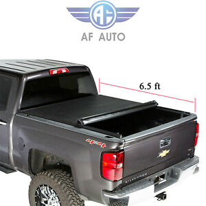 Roll Up Lock Soft Tonneau Cover For 2007 2018 Toyota Tundra 6 5ft Short Bed