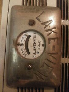 Vintage Lake View Wood Stove Oven Thermometer Door Thermometer No Glass Face
