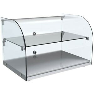 Marchia Ca45 22 Curved Glass Countertop Dry Glass Food Display Case