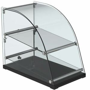 Marchia Ca70 14 Extra Deep Curved Glass Dry Countertop Food Display Case