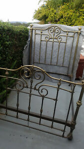 Antique Brass Bed Twin