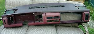 Chevy Silverado gmc Sierra Truck Dash Assembly burgundy Oem 1988 1994
