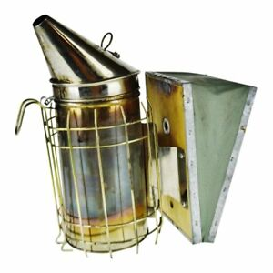 Vintage Bee Smoker With Heat Shield And Leather Bellows