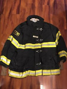 Firefighter Janesville Lion Apparel Turnout Bunker Coat 54x35 Black Costume