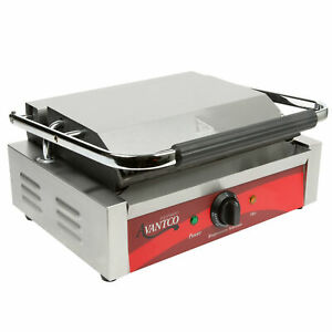 Grooved Top Bottom Commercial Panini Sandwich Press Grill Restaurant