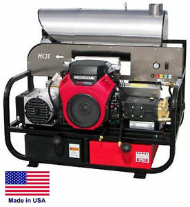Pressure Washer Hot Water Skid Mounted 8 Gpm 3000 Psi 22 Hp Honda 115v