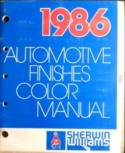 1986 Sherwin Williams Auto Finishes Automotive Color Manual Car Truck Paint Chip