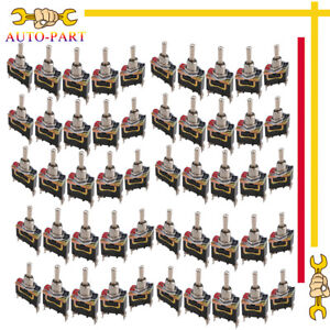 50x Heavy Duty Rocker Toggle Switch Spst 2 Pin On off Waterproof Boot Cap Cover