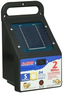 Electric Fence 2 Mile Fencer Energizer Solar Powered Controls Small Pets Poultry