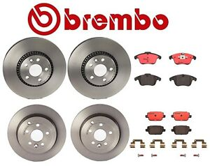 For Land Rover Lr2 Front Rear Vented Disc Brake Rotors And Pads Brembo Kit