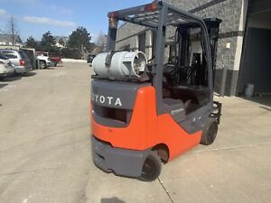 2014 Toyota 5000 Pound Lpg propane Budget Forklift we Will Ship l k