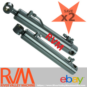 Two 2 Hydraulic Cylinders 7191555 For Bucket Tilt Bobcat Skid steer Loader