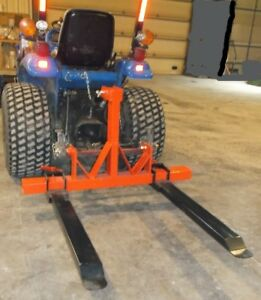 Three Point Hitch Forklift pallet Fork Attachment For Category 1
