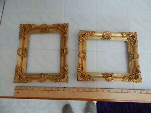 Vtg Wood Picture Frame Set 50 S French Victorian Ornate Style 5 1 2 X 7